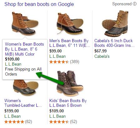Google shopping segmentation