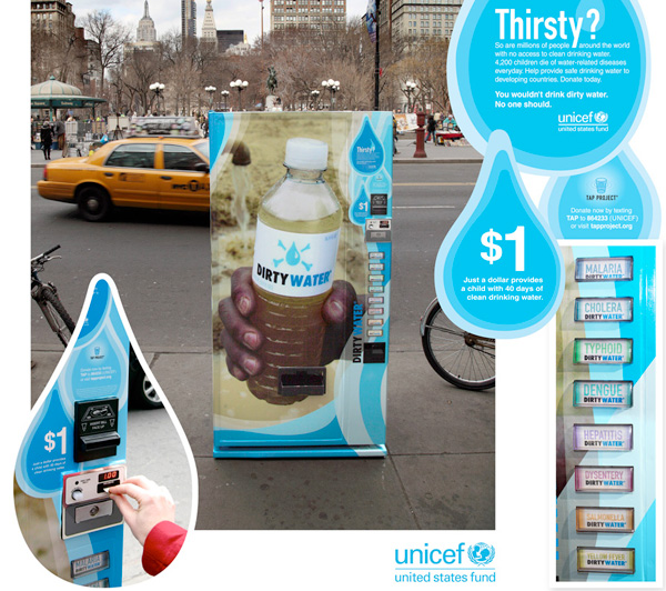 Guerilla marketing UNICEF