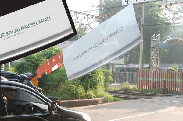 Guerilla marketingová kampaň Železnice v Indonézii