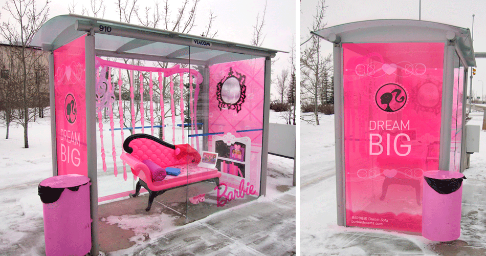 Guerilla marketing Barbie