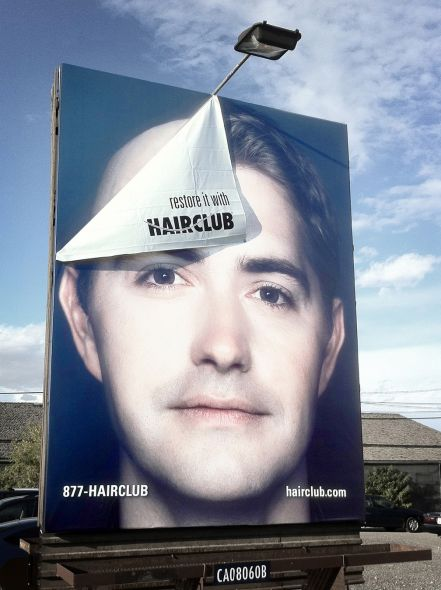 Guerilla marketing Hairclub