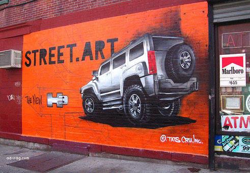 Vonkajší Guerilla marketing s využitím Graffiti