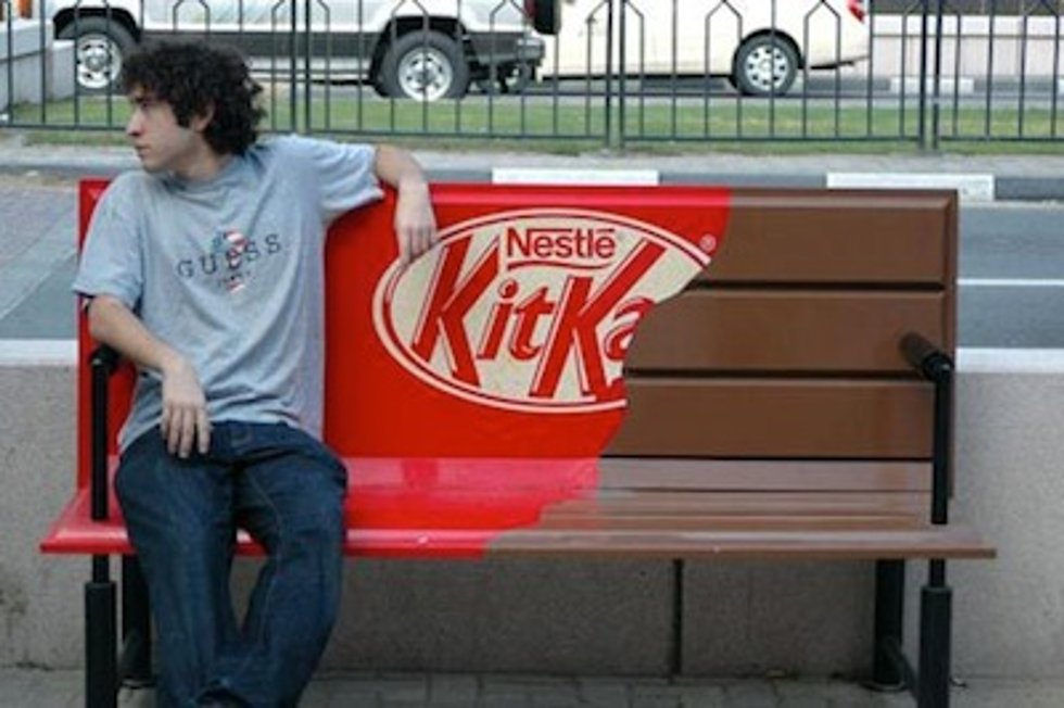Guerilla marketing Nestlé KitKat