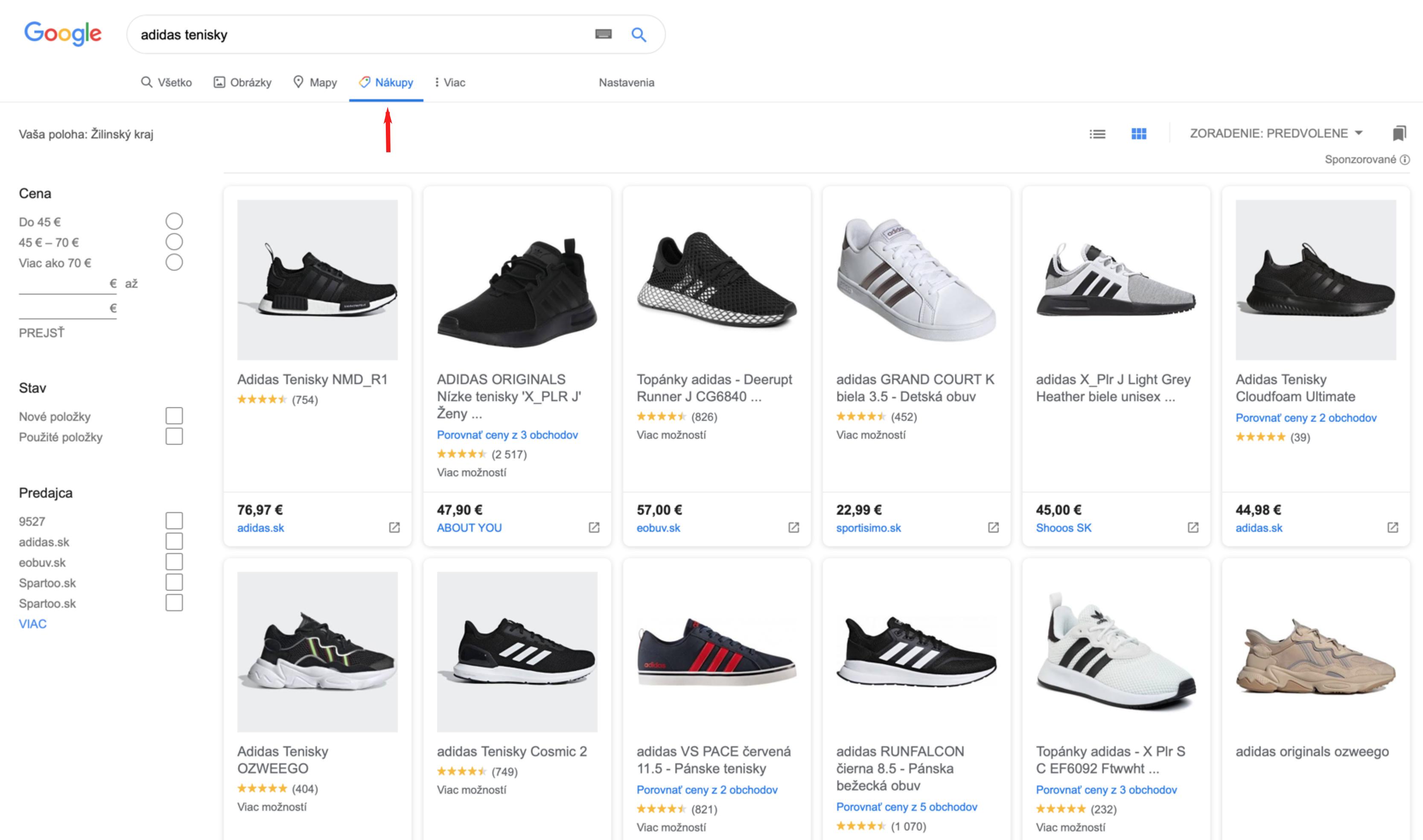bezplatny google shopping