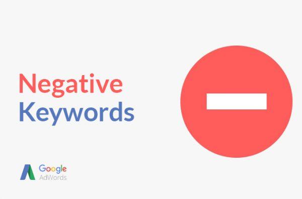 negatívne kľúčové slová
